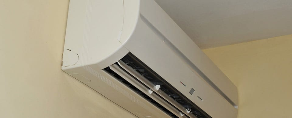 Interior mounted air conditioner
