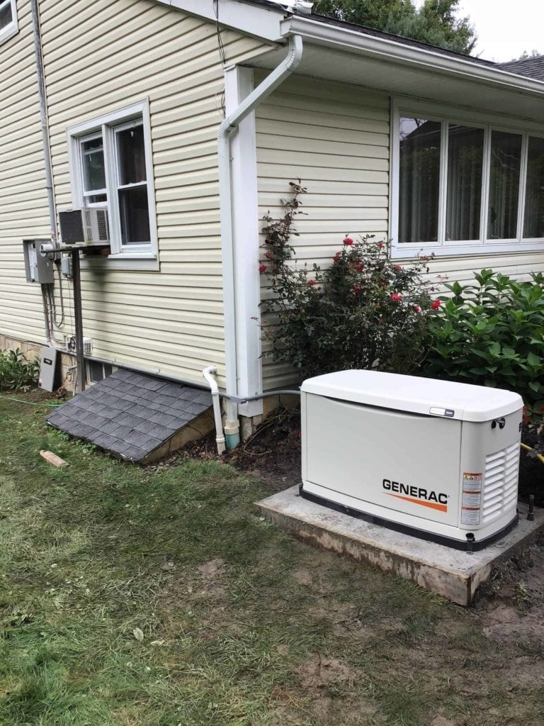 Generac Generator installed by Jones Services in Goshen, NY